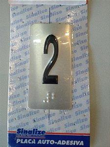 Placa em Alumínio em Braille para Andares  2