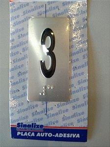 Placa em Alumínio em Braille para Andares  3