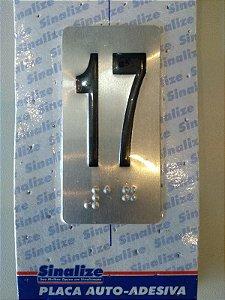 Placa em Alumínio em Braille para Andares 17