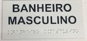 Placa em braille - BANHEIRO MASCULINO