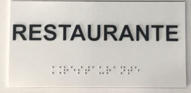Placa em braille - RESTAURANTE