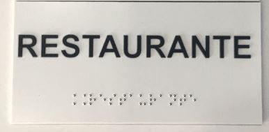 Placa em braille - RESTAURANTE