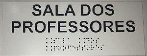 Placa em braille - SALA DOS PROFESSORES