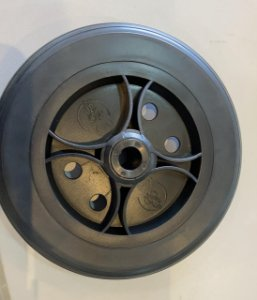 Roda Aro 6 Nylon Furo de 12 mm