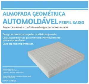 Almofada Geométrica Automoldável Perfil Baixo