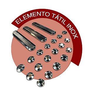Elemento Tátil Inox - DIRECIONAL