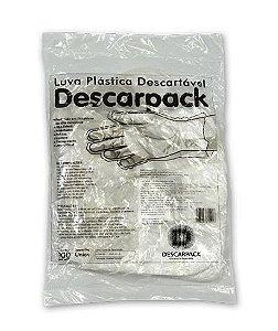 Luva Plástica Descartável Tamanho Único - DESCARPACK