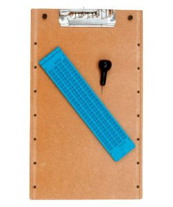 kit Reglete de Mesa com Punção e Papel para Escrita em Braille