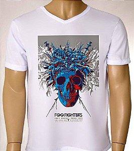 Camisetas Masculinas Cartaz de show - Foo Fighters