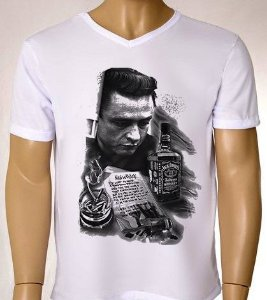 Camisetas Masculinas Johnny Cash