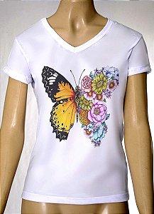 Camisetas Femininas Borboleta