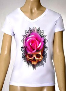 Camisetas Femininas Skull