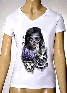 Camisetas Femininas Skull Mulher