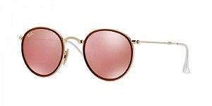 Óculos de Sol Ray-Ban - Feminino Round Craft Folding RB3517 001/Z2