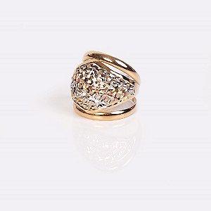 Anel Tricolor - Ouro 18K