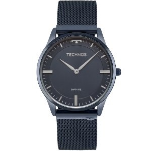 Relógio Technos Masculino Azul Classic Slim - 9T22AN/4A