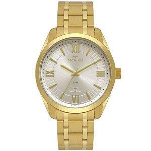 Relógio Technos Masculino Dourado Classic Steel - 2115MSN/4X