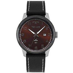 Relógio Masculino Technos Golf Couro Preto - 2315LAG/5R