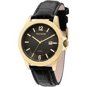 Relógio Technos Masculino Dourado Steel - 2115KNO/2P