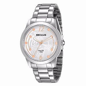Relógio Seculus Feminino Long Life - 28472L0SVNA2