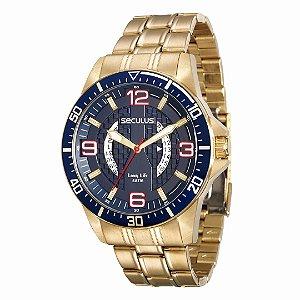 Relógio Seculus Masculino Long Life - 28724GPSVDA1