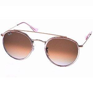 Óculos de Sol Ray-Ban Round Double Bridge Feminino- RB3647N 9069A5
