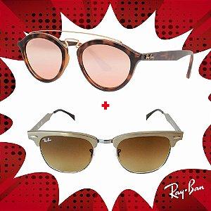Kit Óculos de Sol Ray-Ban - RB3507 139/8551 e RB4257 60922Y53