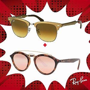 Kit Óculos de Sol Ray-Ban - RB4257 60922Y53 e RB3507 139/8549