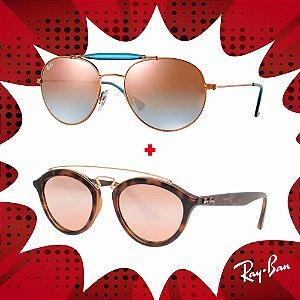 Kit Óculos de Sol Ray-Ban - RB3540 198/7Y56 e RB4257 60922Y53