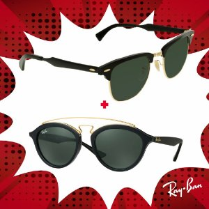 Kit Óculos de Sol Ray-Ban - RB3507 136/N5 e RB4257 6092/2Y