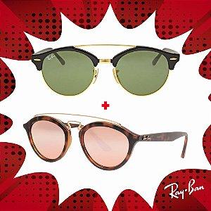 Kit Óculos de Sol Ray-Ban - RB4346 901 51 e RB4257 60922Y53