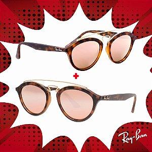 Kit Óculos de Sol Ray-Ban - RB4257 60922Y50 e RB4257 60922Y53