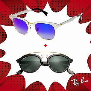 Kit Óculos de Sol Ray-Ban - RB3507 137/7Q51 e RB4257 601/7150