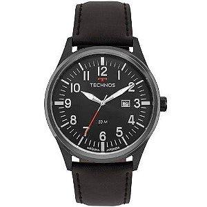 Relógio Masculino Technos Steel Couro Preto -  2115MTC/2P