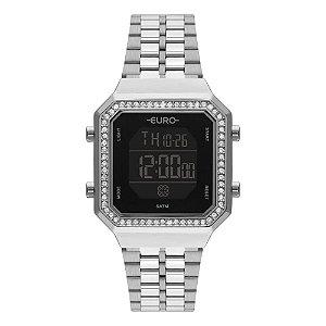 Relógio Euro Feminino Fashion Fit Prata Digital EUBJK032AD/3P