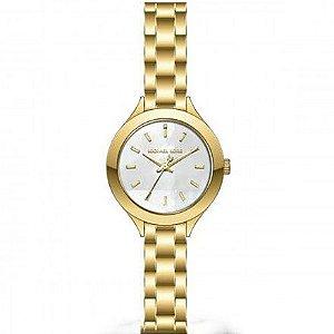Relógio Michael Kors Feminino Slim Runway Dourado MK3871/1DN