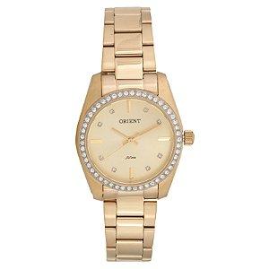 Relógio Dourado Orient FGSS0078-M1KX Swarovski
