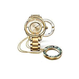 Relógio Technos Dourado Feminino GL30FK/K4X