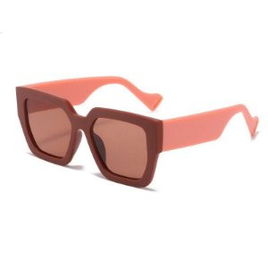 Óculos de Sol Coleção Carol Schutz Inverno 2021 Quadrado Marrom