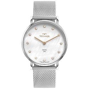 Relógio Technos Slim Prata 2025LTT/1B Feminino