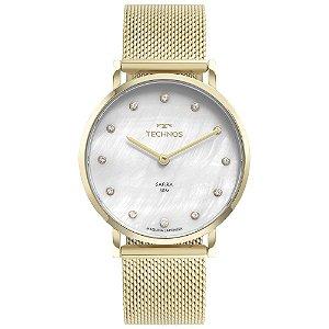 Relógio Technos Slim Dourado 2025LTU1B Feminino