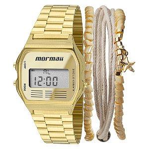 Relógio Mormaii Digital Dourado MOJH02ABK4D Unissex