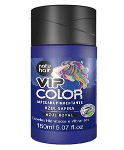 Máscara Pigmentante Vip Color Azul Safira (Azul Royal) Natuhair 150ml