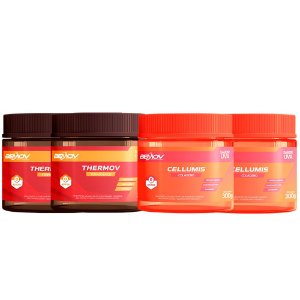 Kit com 2 Cellumis 300g Sabor Uva + 2 Thermov 300g Sabor Limão