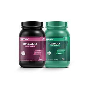 Kit com Bellamis 1000mg 90 Cápsulas + Unimax 60g 60 Cápsulas