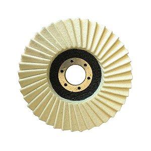 Disco de Polimento Feltro Top 40 Aletas 115x22 mm