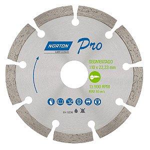 Disco de Corte Pro Segmentado Diamantado 110 x 22,23 mm