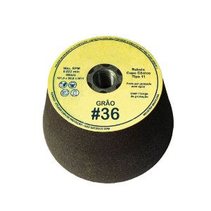 Rebolo Copo Cônico Marmorista 101,6 X 50,8 X 15,87 #36 c/Rosca M14