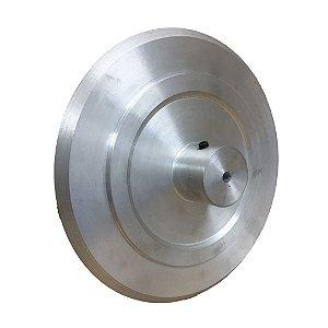 Disco ou Prato em Alumínio Torneado Diâmetro de 220mm