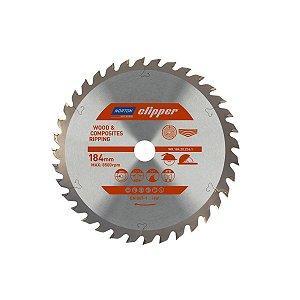 Caixa com 5 Disco de Serra para cortar Madeira e Compósitos Norton Clipper de 184mm com 36 dentes